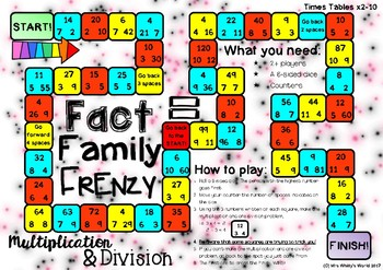 Fact families multiplication and division games