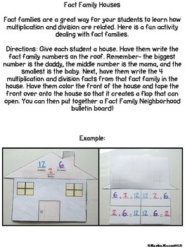 Multiplication & Division Fact Family House, Flipper, Rap, Quiz