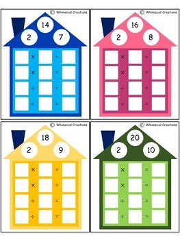 Multiplication/Division Fact Family Houses