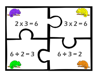 Multiplication & Division Fact Family Puzzles