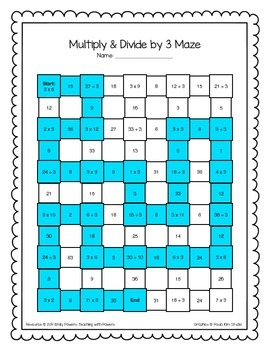 Multiplication Division Math Maze Worksheets Bundle By Teaching