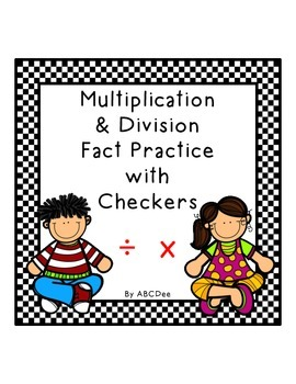 Multiplication & Division Checkers Game
