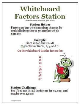 Multiplication Division Factors Prime Numbers Multiples Activities