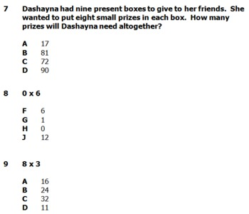 Multiplication & Division Facts 4 Pretests/Posttests