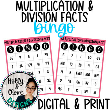 Multiplication & Division Facts BINGO