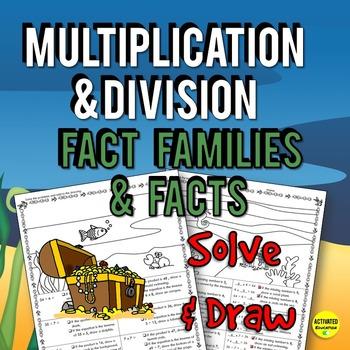 Multiplication & Division Facts Solve & Draw Bundle