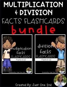 Multiplication & Division Facts Flash Cards BUNDLE