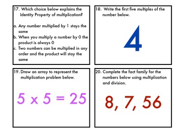 Multiplication & Division: Facts and Meanings-Made to work with EnVision Topic 1