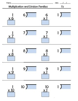 Multiplication & Division Families