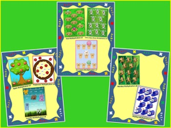 Multiplication & Division File Folder Games Bundle ~ 16 Games