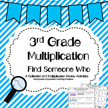 Multiplication Find Someone Who Activity