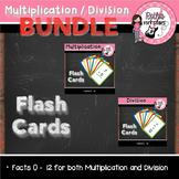Multiplication & Division Flash Card BUNDLE Pack