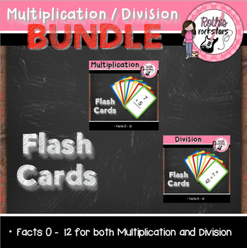 Multiplication & Division Flash Card BUNDLE Pack