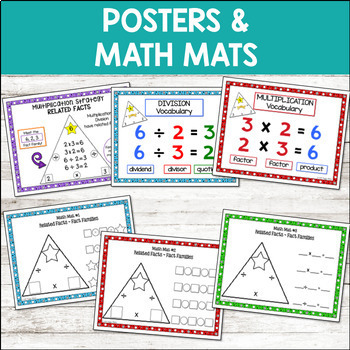 math fact fluency with flash cards multiplication division tpt. Black Bedroom Furniture Sets. Home Design Ideas