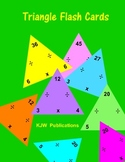 Multiplication / Division   Flash Cards Triangles - 18 pages  -  PDF