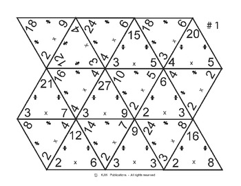 image about Free Printable Multiplication Flash Cards Pdf referred to as Multiplication / Office Flash Playing cards Triangles - 18 web pages - PDF