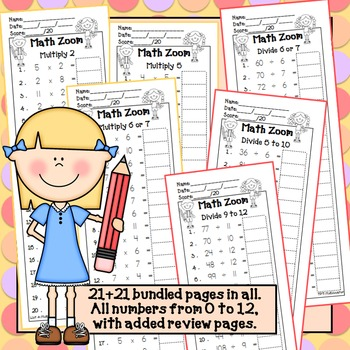 Fact Fluency Multiplication & Division BUNDLE