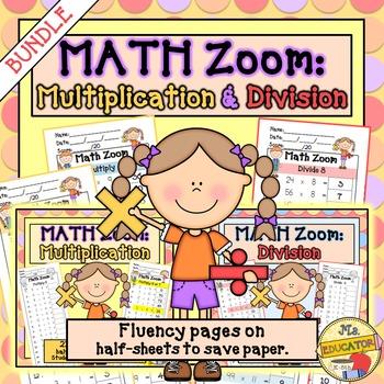 Fact Fluency Multiplication & Division BUNDLE