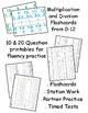 Multiplication & Division Fluency Practice - Flashcards & Task Cards