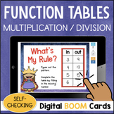 Multiplication & Division Function Table DIGITAL Task Cards BOOM CARDS