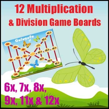 Division Game & Multiplication Game - Practice Number Facts with a Tables Game