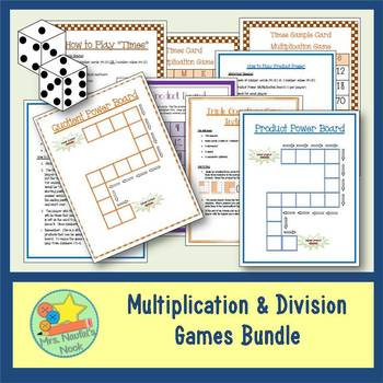 Multiplication & Division Games - Using Numbers 1 to 10