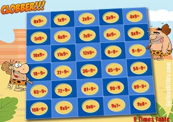 Math Game - Multiplication Games & Division Games - {In One Download} - Clobber