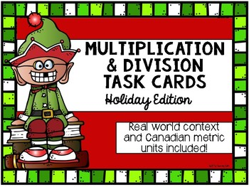 Multiplication & Division Holiday Task Cards