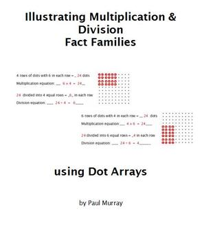 Multiplication & Division:  Illustrating Fact Families with Dot Arrays
