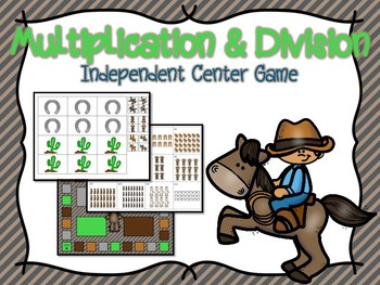 Multiplication & Division Independent Center Game