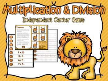 Multiplication & Division Independent Center Game #4