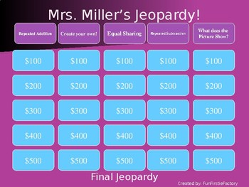 Multiplication & Division Jeopardy Game!