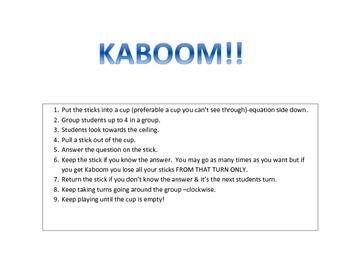 Multiplication & Division Kaboom Games