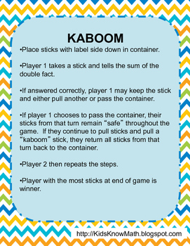 Multiplication & Division Kaboom Games