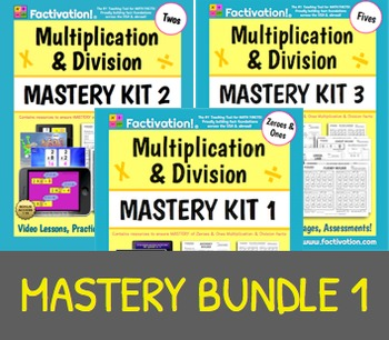 Multiplication/Division Mastery BUNDLE 1 (Includes Mastery Kits 1-3)