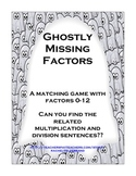 Ghosts Multiplication / Division Match Up: Aligned to the Common Core!