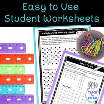 Multiplication Division Math Choice Grid: Tasks, Activities and Worksheets