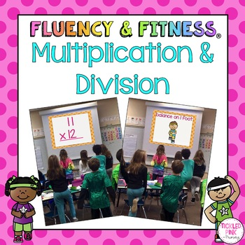Multiplication & Division Math Facts Fluency & Fitness Brain Breaks Bundle