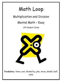 """""""I Have... Who Has..."""" Multiplication & Division (Level - Easy)"""