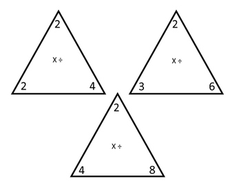 Multiplication/Division Math Triangles