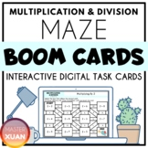 Multiplication & Division Maze Animal Themed Boom Cards Di