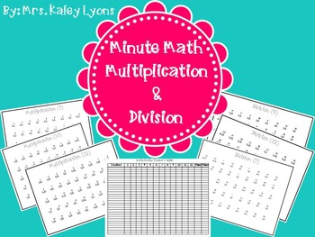 Multiplication & Division Minute Math