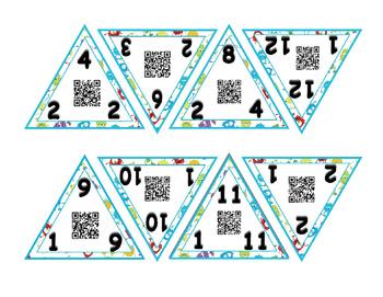 Multiplication/Division Monster themed Fact Family Game