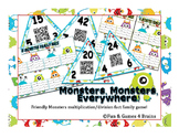Multiplication/Division Monster themed Fact Family Game