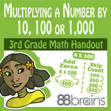 Multiplication & Division: Multiplying a Number by 10, 100, or 1000  pgs. 25-27