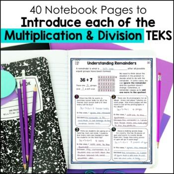 Multiplication & Division Notebook 4th Grade TEKS by Marvel Math
