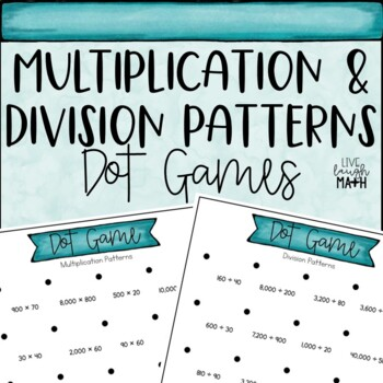 Multiplication & Division Patterns Game FREEBIE