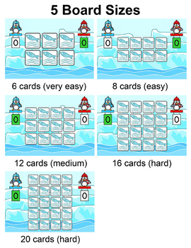 Multiplication & Division Penguins Memory Matching Game - SMARTboards & Tablets