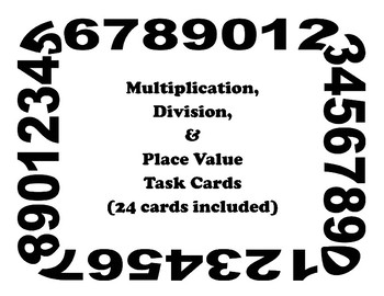 Multiplication Division Place Value Task Cards