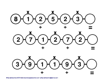 Multiplication & Division Practice Strings